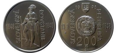 16 сентября 1848 года начало революции 1848—1849 годов в Словакии(200 крон, 150 лет революции).jpg