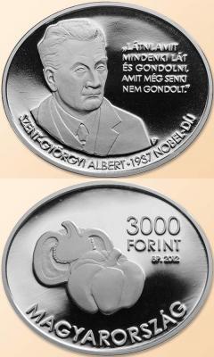16 сентября 1893 года родился — Альберт Сент-Дьёрди(Венгрия 3000 форинтов 2012. BU-2000 PRООF-5000).jpg