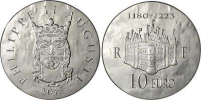 18 сентября 1180 года - королем Франции становится Филипп II Август(fr-2012-10e, 50е).jpg