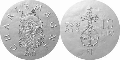 24 сентября 768 года - королем Франции становится Карл I Великий(fr_10e,50е_2011_Karl).jpg