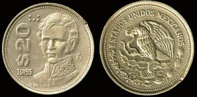 29 сентября 1786 года родился - Гуадалупе Виктория(Мексика. 20 песо).jpg