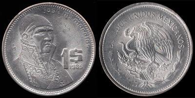 30 сентября 1765 года родился - Хосе Морелос(Мексика, 1985 год, 1 песо).jpg