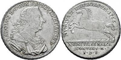 1765 Германия-Брауншвейг-Люнебург, Карл 1, талер.jpg