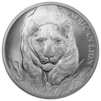 Чад 5000 франков КФА 2017 года Африканский лев (реверс).jpg