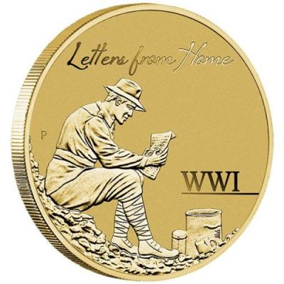 Австралия 1 доллар 2016 Почтальоны-й мировой войны (реверс).jpg