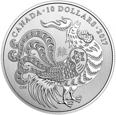 Канада 10 долларов 2017 год  «год Петуха».jpg