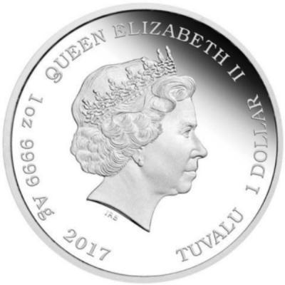 Тувалу 1 доллар 2017 год  Ag 999 (аверс).jpg