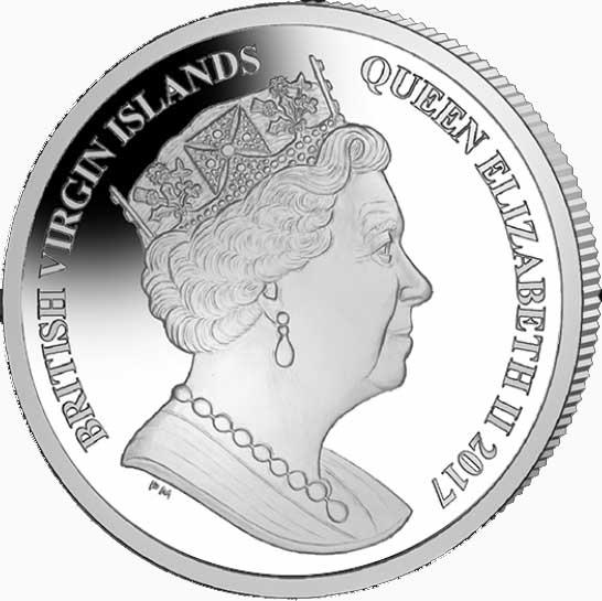Виргинские острова 1 доллар 2016 - Колибри (аверс).jpg