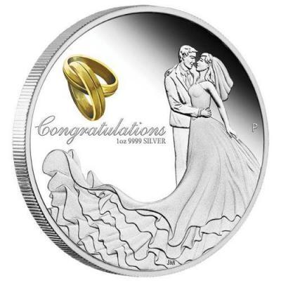 Австралия 1 доллар 2017 года «На день свадьбы» (реверс).jpg