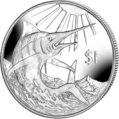 Виргинские острова 1 доллар 2017 год «Голубой марлин» (реверс).jpg