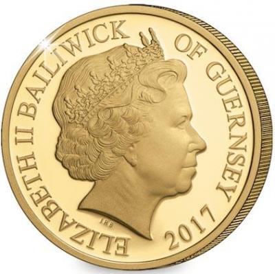 Гернси 1 фунт 2017 год «Юбилей Елизаветы II - 65 лет» (аверс).jpg