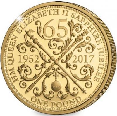 Гернси 1 фунт 2017 год «Юбилей Елизаветы II - 65 лет» (реверс).jpg