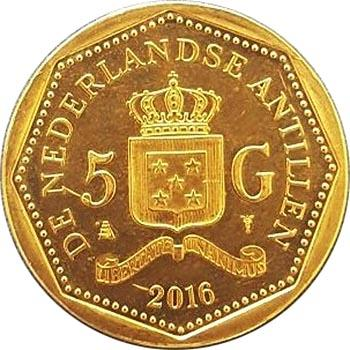 Нидерландские Антильские острова 5 гульденов 2016 (аверс).jpg