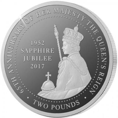 Тристан-да-Кунья 2 фунта 2017 «Сапфировый юбилей» (реверс).jpg
