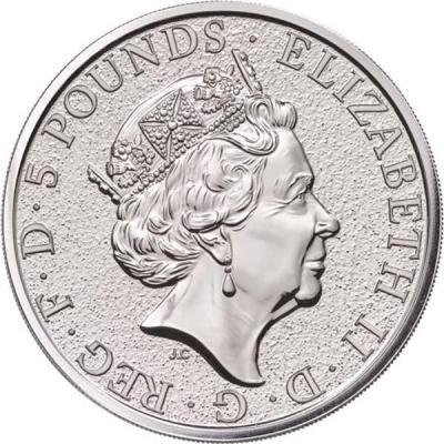 Великобритания 5 фунтов «Звери королевы» (аверс).jpg