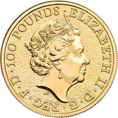 Великобритания 100 фунтов «Звери королевы» (аверс).jpg