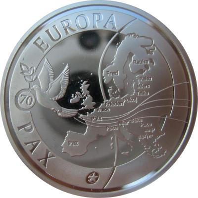 Бельгия 10 евро 2015 год «Мир» (реверс).jpg