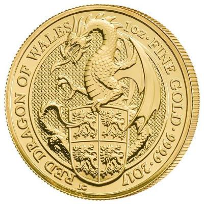 Великобритания  2017 «Валийский дракон», золото (реверс).jpg