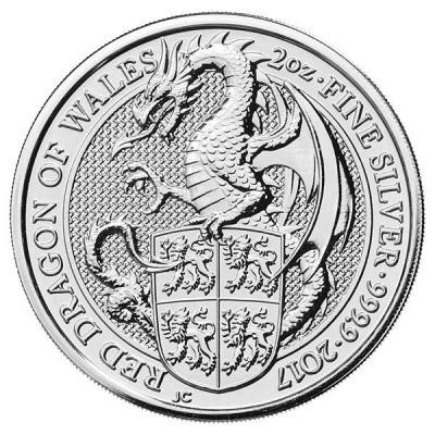Великобритания  2017 «Валийский дракон», серебро (реверс).jpg