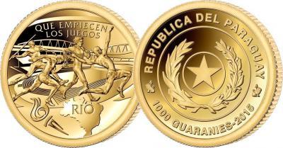 Парагвай 1000 гуарани 2015 год «Олимпиада в Рио 2014».jpg