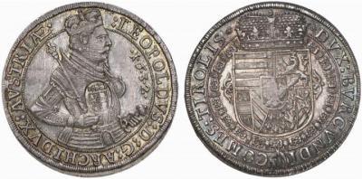 9 октября 1586 года родился Леопольд V Фердинанд (Талер 1632 года Леопольда V Фердинанда).jpg
