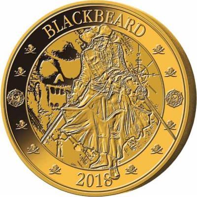 Барбадос 25 центов 2018 год «Чёрная борода» (реверс).jpg