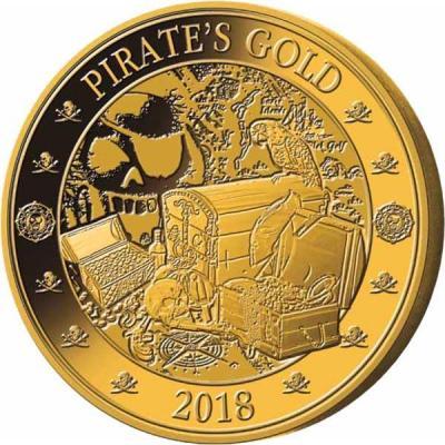 Барбадос 25 центов 2018 год «Золото пиратов» (реверс).jpg