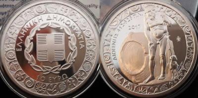 ГРЕЦИЯ 10 Евро 2017 - Диоген - 34,1 г Серебро 925 Доказательства - 2000 копий - диаметр 40 мм.jpg