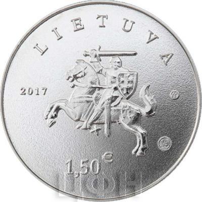 Литва €1.5 2017 год «Литовская природа» (аверс).jpg