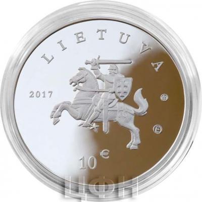 Литва €10 2017 год «Литовская природа» (аверс).jpg