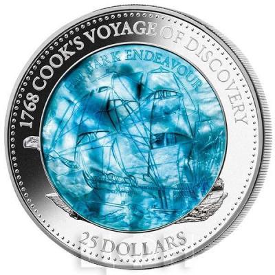 Соломоновы острова 25 долларов 2018 год «Индевор (корабль)». (реверс).jpg