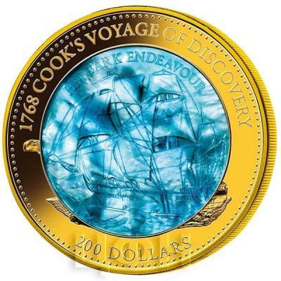 Соломоновы острова 200 долларов 2018 год «Индевор (корабль)». (реверс).jpg