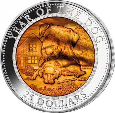 Соломоновы острова 25 долларов 2018 год «Год собаки». (реверс).jpg