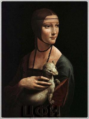 Соломоновые острова, 1 доллар 2015 «Дама с горностаем» — картина  Леонардо да Винчи (реверс).jpg