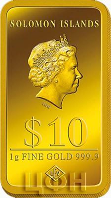 Соломоновые острова 10 долларов, 1 гр золота (аверс).jpg