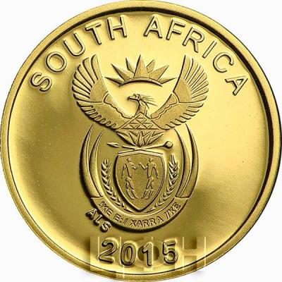 Южная Африка 1 рэнд 2015 год «Рептилии Африки» (аверс).jpg