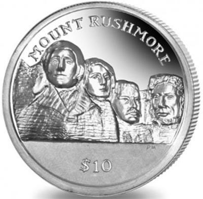 Британские Виргинские острова 1 доллар 2015 «Рашмор» (реверс).jpg