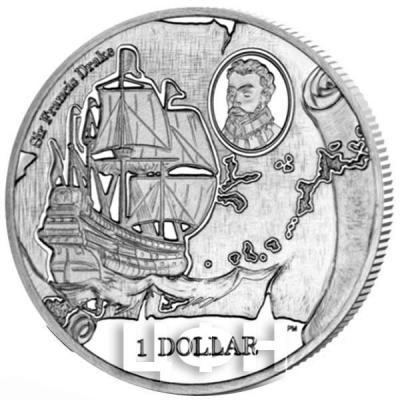 Британские Виргинские острова 1 доллар 2015 «475 лет со дня рождения сэра Фрэнсиса Дрейка» (реверс).jpg