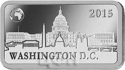 Соломоновы острова полдоллара, 2015 «Вашингтон - Капитолий» (реверс).jpg