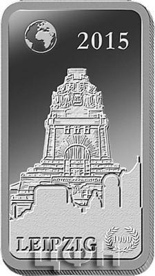 Соломоновые острова 2 доллара 2015 «Лейпциг - Памятник битве народов» (реверс).jpg