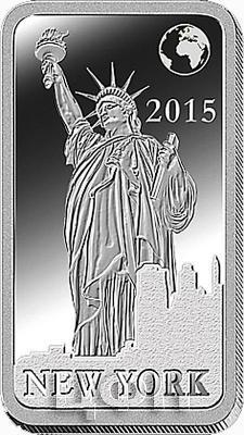 Соломоновые острова 2 долларА 2015 «Нью-Йорк - Статуя Свободы» (реверс).jpg