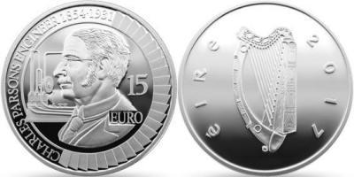 Ирландия 15 евро 2017 - Sir Charles Parsons.jpg
