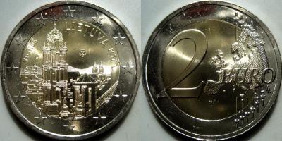 Литва 2 евро 2017 Вильнюс.jpg