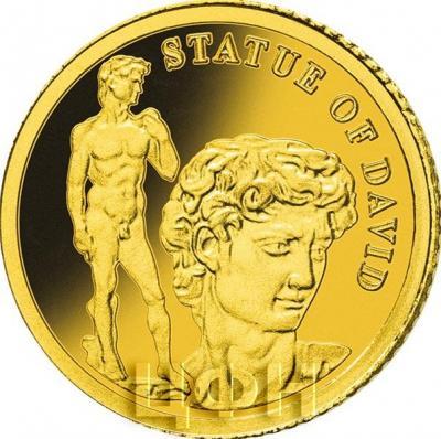 Соломоновые острова 1 доллар  2018 год  «Статуя Давида» (реверс).jpg
