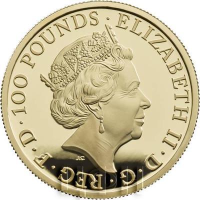 Великобритания золото «Год собаки» (аверс).jpg