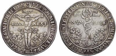 ERZGEBIRGE Halber Pesttaler 1528 R. Stempel von Utz Gebhardt.jpg