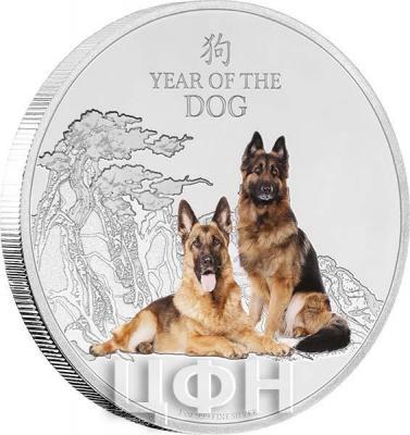 Ниуэ 2 долларов 2018 год «Год собаки» (реверс).jpg