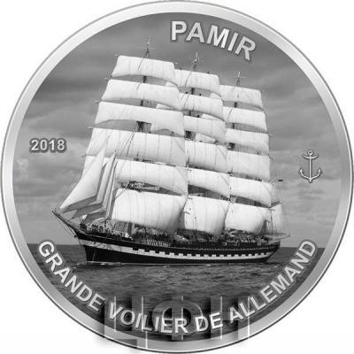 Гвинея 1000 франков 2018 «Памир (корабль)» (реверс).jpg
