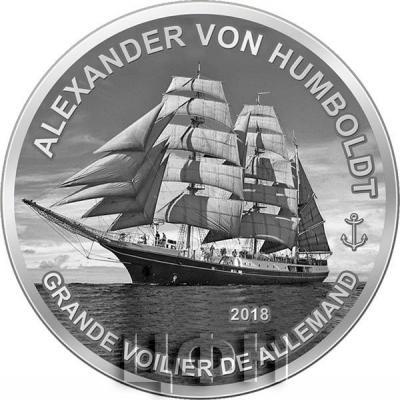 Гвинея 1000 франков 2018 «Александр фон Гумбольдт» (реверс).jpg