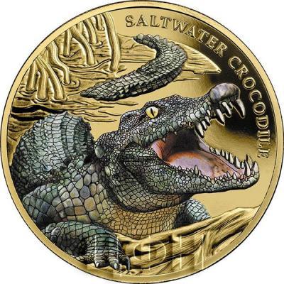 Ниуэ 100 долларов 2018 год «Крокодил» (реверс).jpg